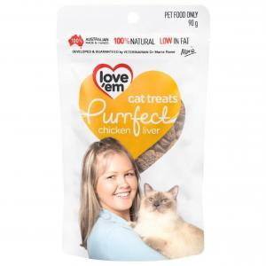 Loveem Love 'Em Purrfect Chicken Cat Treats 90g