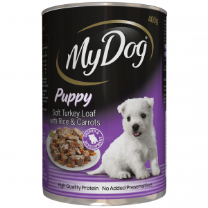My Dog My Dog Soft Turkey Loaf with Rice & Carrots Wet Puppy Food 400g
