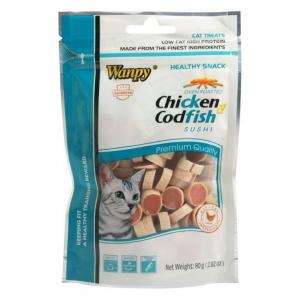 Wanpy Wanpy Chicken & Cod Sushi Cat Treats 80g