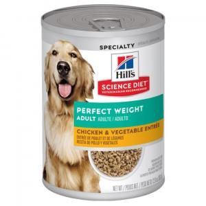 Hill's  Science Diet Adult Perfect Weight Chicken & Vegetables Canned Dog Food 363g