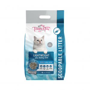 Trouble N Trix Trouble & Trix Lightweight Clumping Cat Litter with Baking Soda
