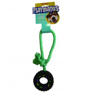 PLAYMATES  Tyre Tug Toy Small Black SMALL