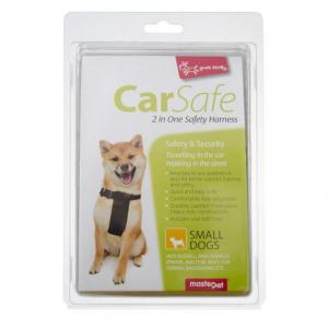 Yours Droolly  2 In 1 Car Harness Black SMALL