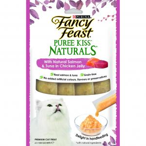 Fancy Feast  Puree Kiss Naturals Salmon And Tuna In Chicken Jelly 4x10g