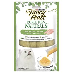 Fancy Feast  Puree Kiss Naturals With Natural Chicken In Chicken Jelly 4x10g