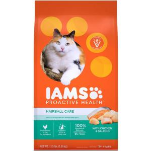 Iams  Proactive Health Hairball  Care Chicken & Salmon Dry Cat 1.59kg