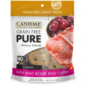 Canidae  Pure Chewy Grain Free Wild Boar & Cherry Dog Treat 170g