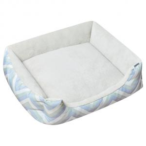 LEXI & ME  Mint Chevron Bolster Bed SMALL
