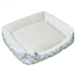 LEXI & ME  Mint Chevron Bolster Bed MEDIUM