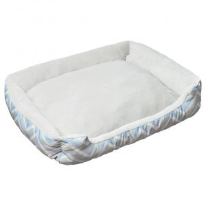 LEXI & ME  Mint Chevron Bolster Bed LARGE