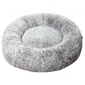 LEXI & ME  Speckled Stone Plush Round Bed SMALL