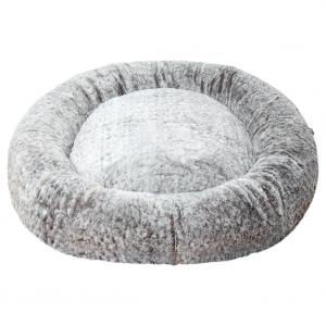 LEXI & ME  Speckled Stone Plush Round Bed MEDIUM