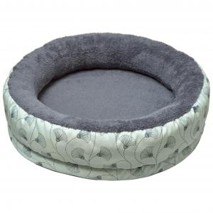 LEXI & ME  Mint Floral Round Bolster Bed MEDIUM