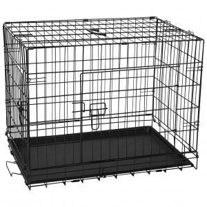 LEXI & ME  Black Wire Crate With Tray SMALL