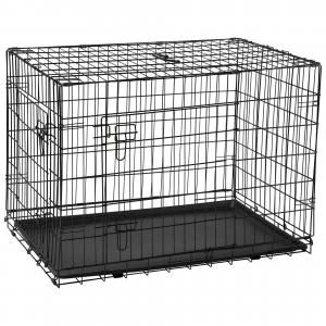 LEXI & ME  Black Wire Crate With Tray MEDIUM