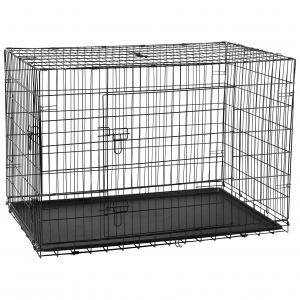 LEXI & ME  Black Wire Crate With Tray LARGE