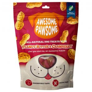 AWESOME PAWSOME  Peanut Butter & Cranberry Dog Treats