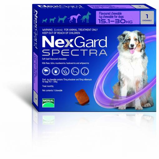 NexGard NexGard Spectra Chewables for Large Dogs 15.1-30kg thumbnail