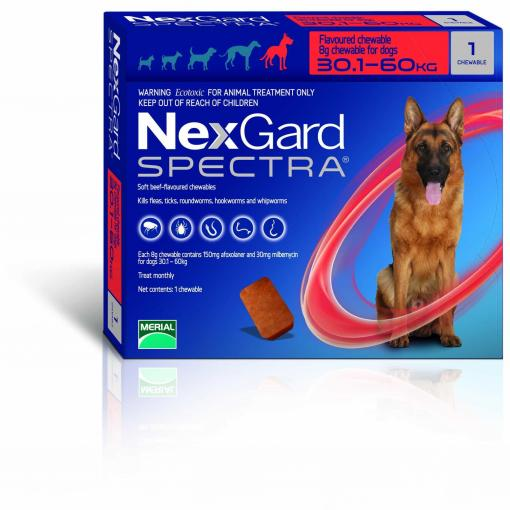 NexGard NexGard Spectra Chewables for X-Large Dogs 30kg+ thumbnail