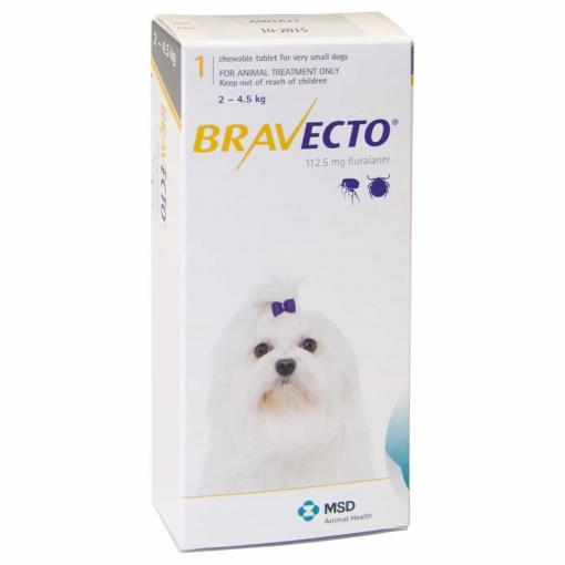 BRAVECTO Bravecto Flea Treatment for Extra-Small Dogs (2-4.5kg) thumbnail