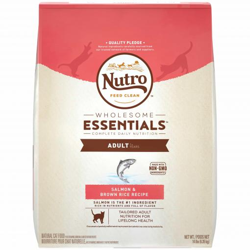 Nutro Nutro Wholesome Essentials Adult Salmon & Whole Brown Rice Dry Cat Food thumbnail
