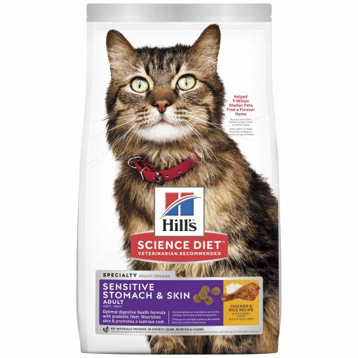 Hill's Hill's Science Diet Adult Sensitive Stomach & Skin Dry Cat Food thumbnail