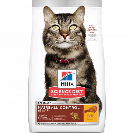 Hill's Hill's Science Diet Adult 7+ Hairball Control Senior Dry Cat Food thumbnail
