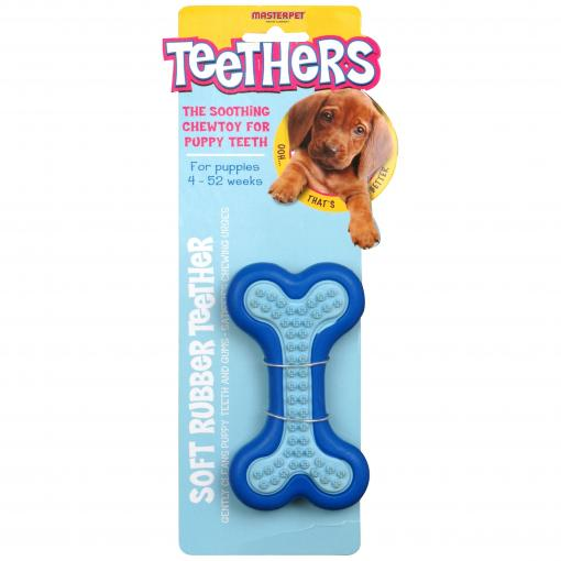 Masterpet Teethers - Dental Massager Bone Dog Chew Toy thumbnail