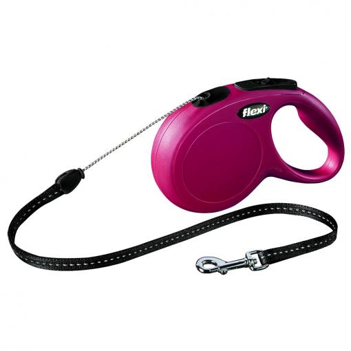 Flexi Flexi New Classic Cord Retractable Leash Red 8m thumbnail