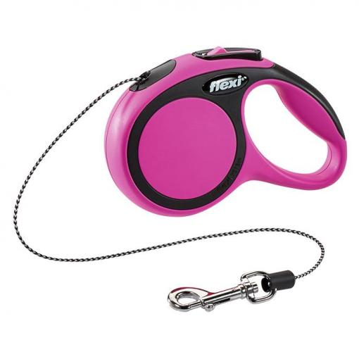 Flexi Flexi New Comfort Cord Retractable Leash Pink 3m Extra Small thumbnail