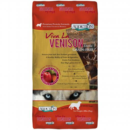 ADDICTION Addiction Viva La Venison Grain Free Dry Dog Food thumbnail