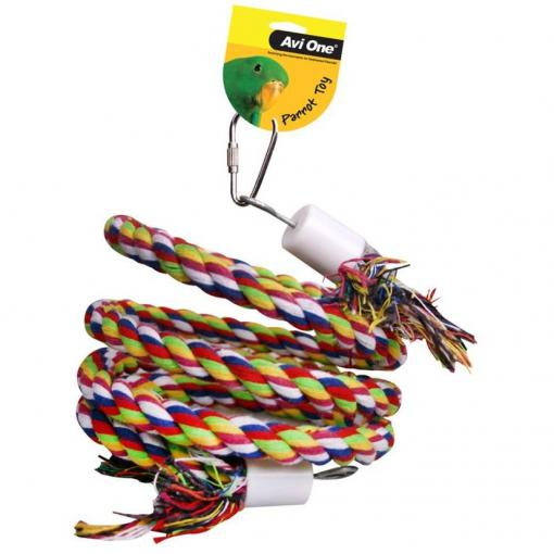 Avi One Avi One Parrot Rope Twister with Bell - Small thumbnail