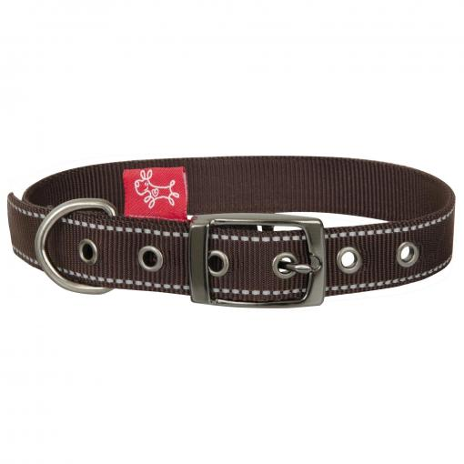 Yours Droolly Yours Droolly Reflective Buckle Collar Brown thumbnail