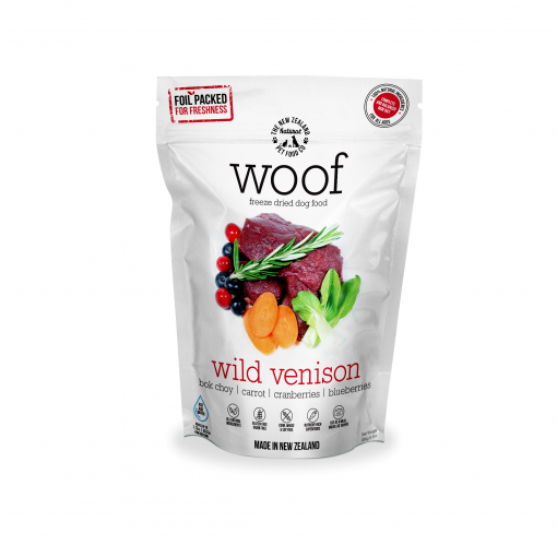 WOOF Woof Wild Venison Freeze Dried Dog Food thumbnail