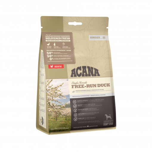Acana Acana Singles Free-Run Duck Dry Dog Food thumbnail