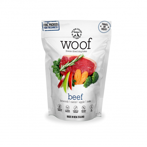 WOOF Woof Beef Freeze Dried Dog Bites thumbnail