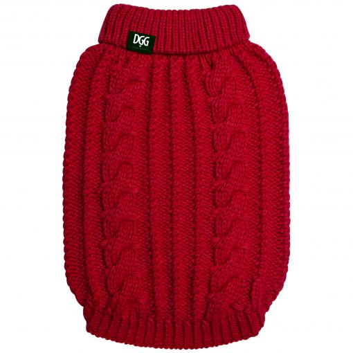 DGG DGG Chunky Cable Knit Red thumbnail