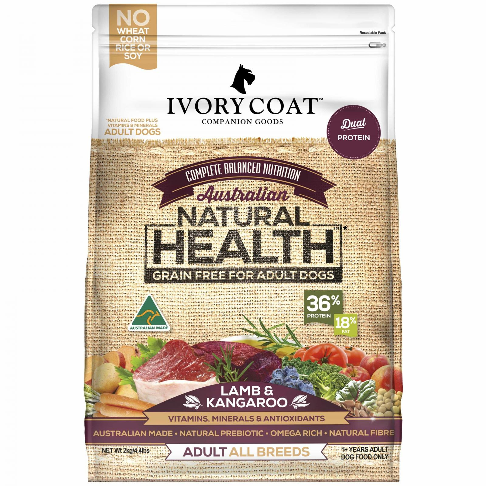 IVORY COAT Ivory Coat Lamb & Kangaroo Dry Adult Dog Food