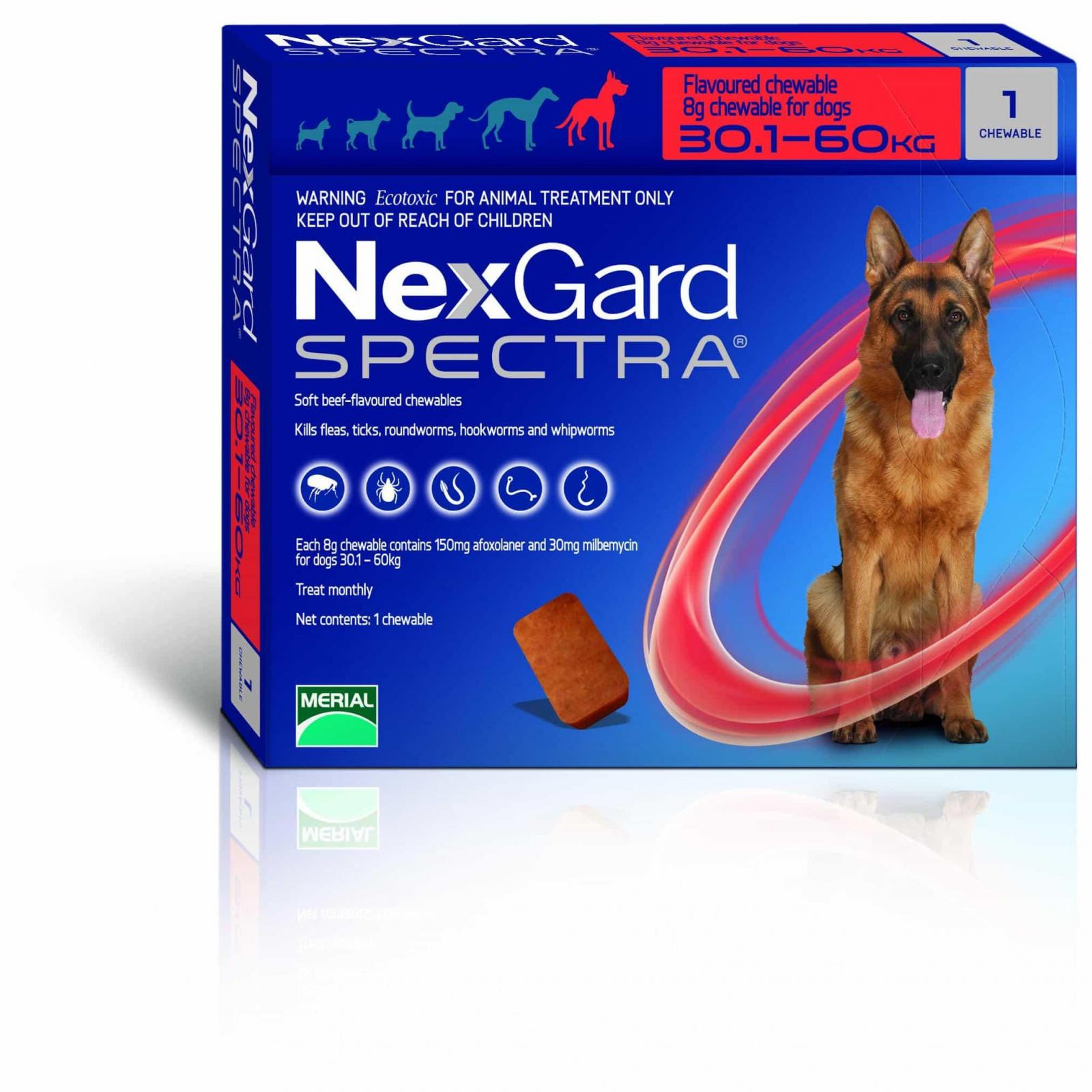 NexGard NexGard Spectra Chewables for X-Large Dogs 30kg+