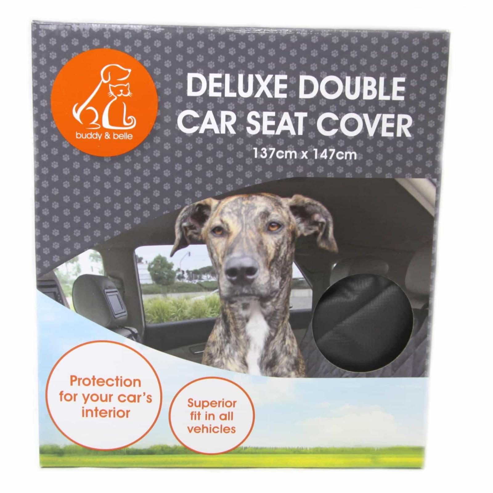 Buddy & Belle Buddy & Belle Deluxe Double Car Seat Cover