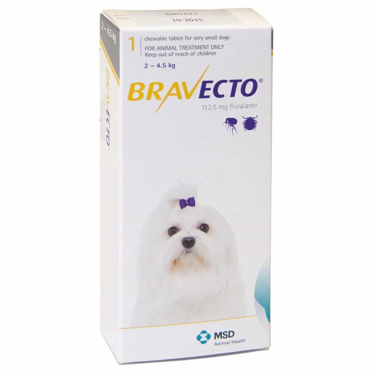 BRAVECTO Bravecto Flea Treatment for Extra-Small Dogs (2-4.5kg)