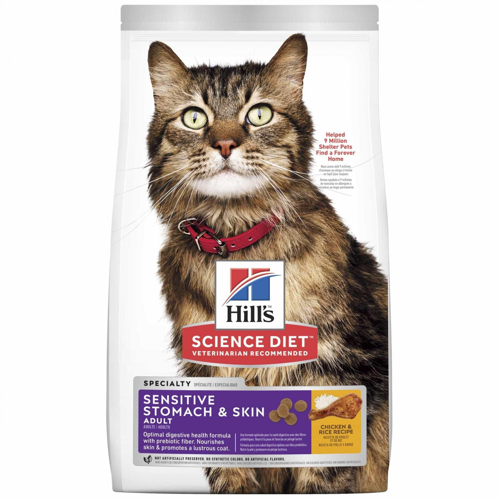 Hill's Hill's Science Diet Adult Sensitive Stomach & Skin Dry Cat Food