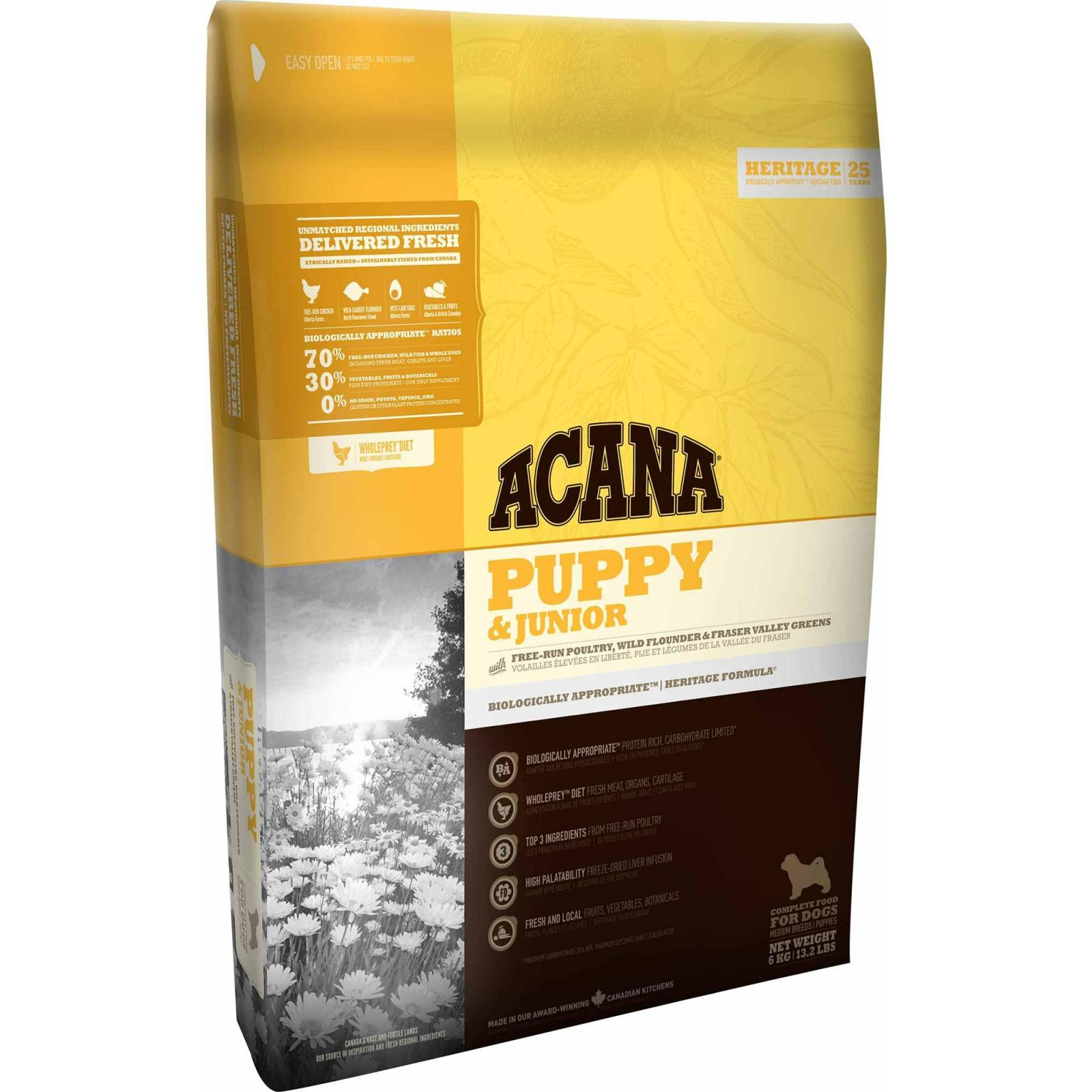 Acana Acana Heritage Puppy & Junior Dry Dog Food