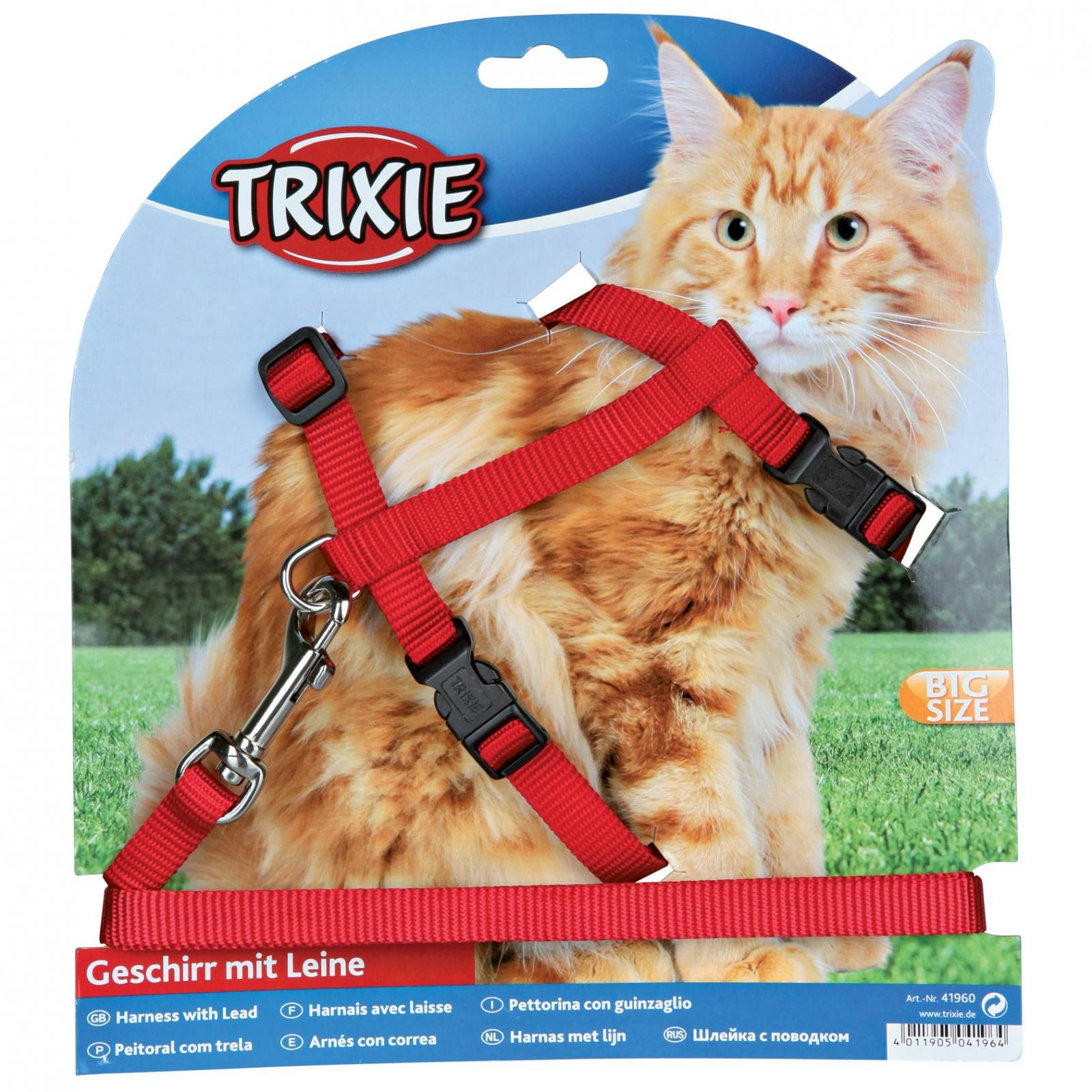Trixie Trixie Harness & Lead For Large Cats - Assorted Colours