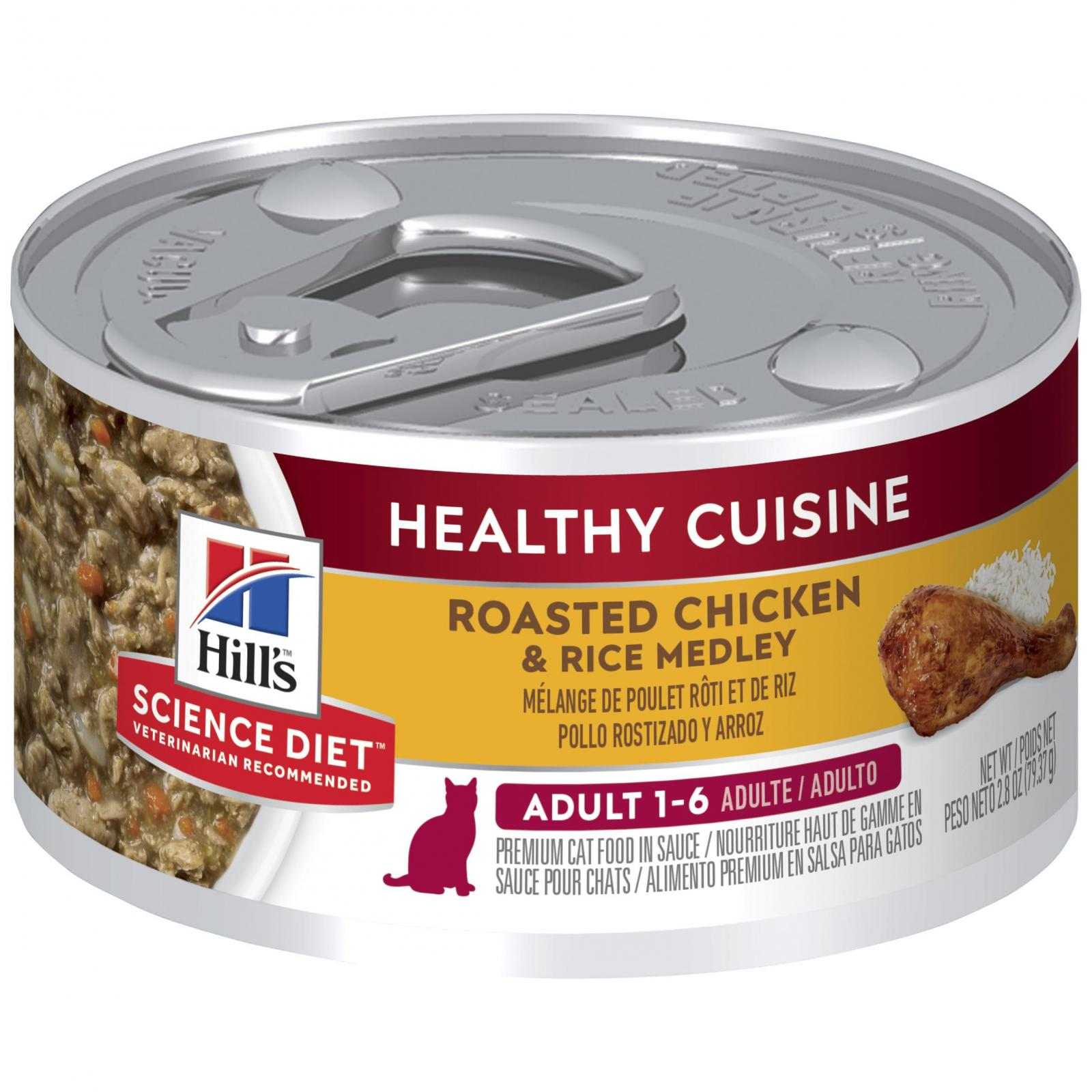 Hill's Hill's Science Diet Adult Healthy Cuisine Chicken & Rice Medley Canned Cat Food 79g
