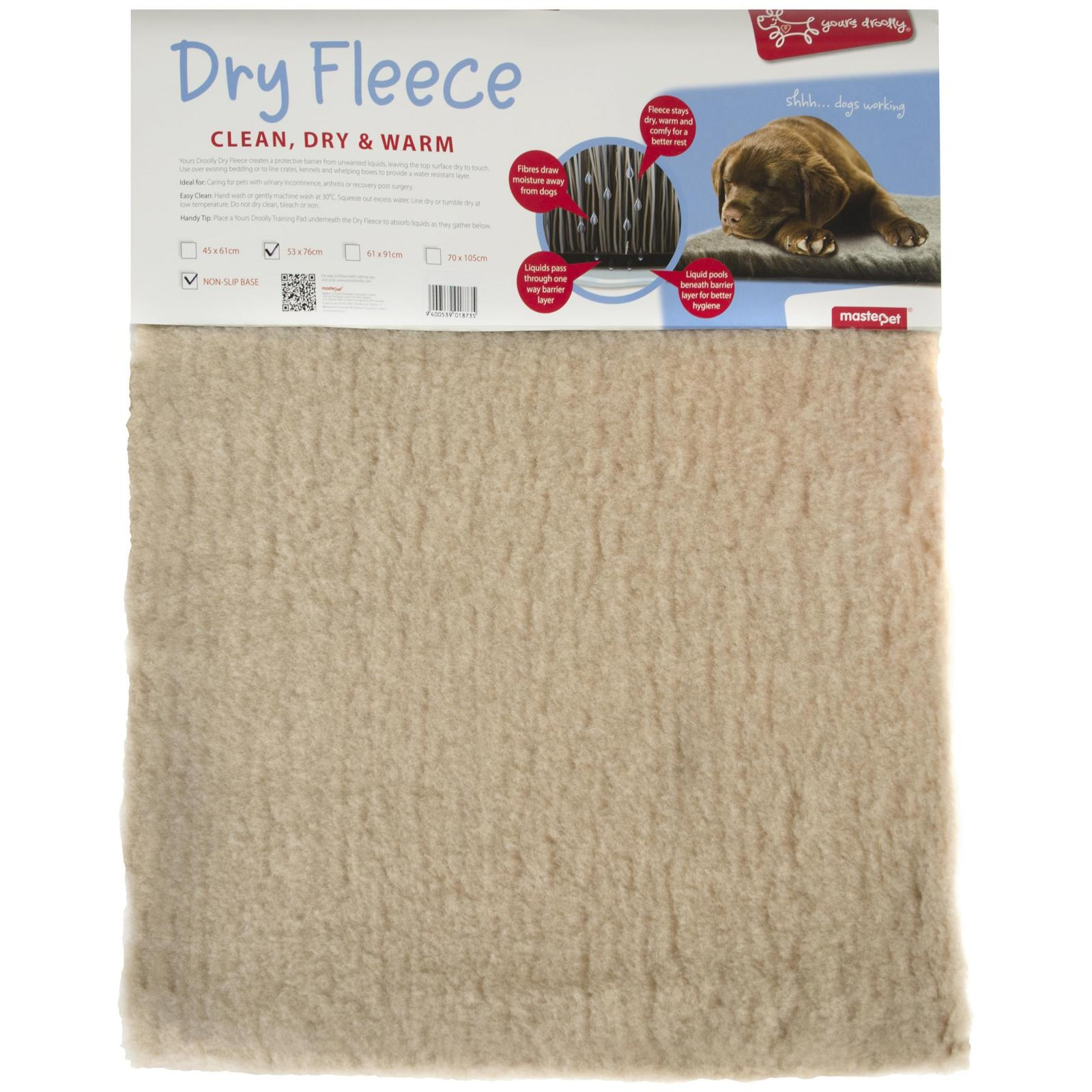 Yours Droolly Yours Droolly Dry Fleece Bed Beige
