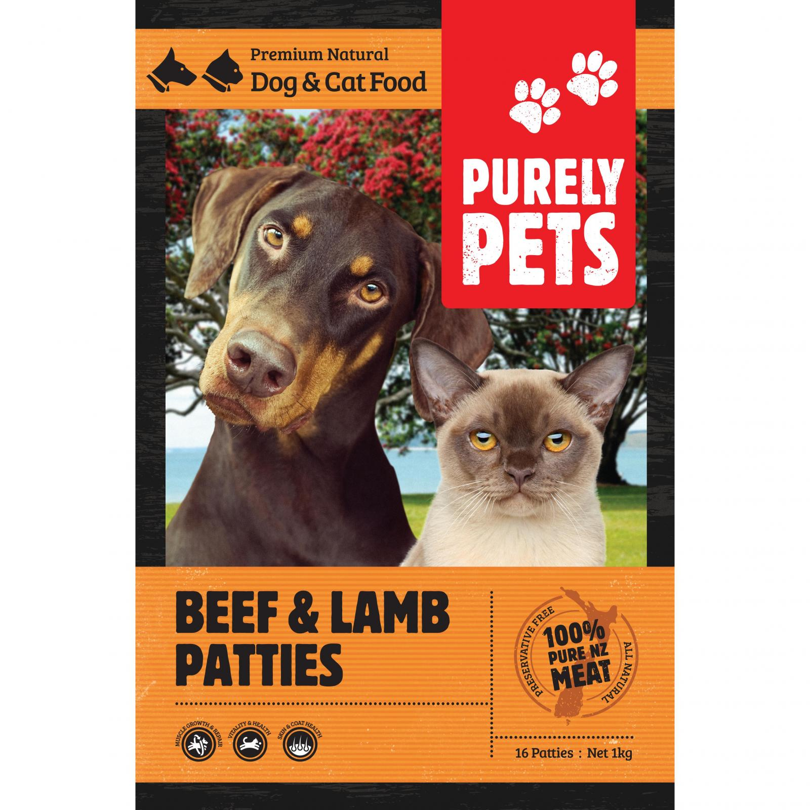 PURELY PETS Purely Pets Frozen Beef & Lamb Patties