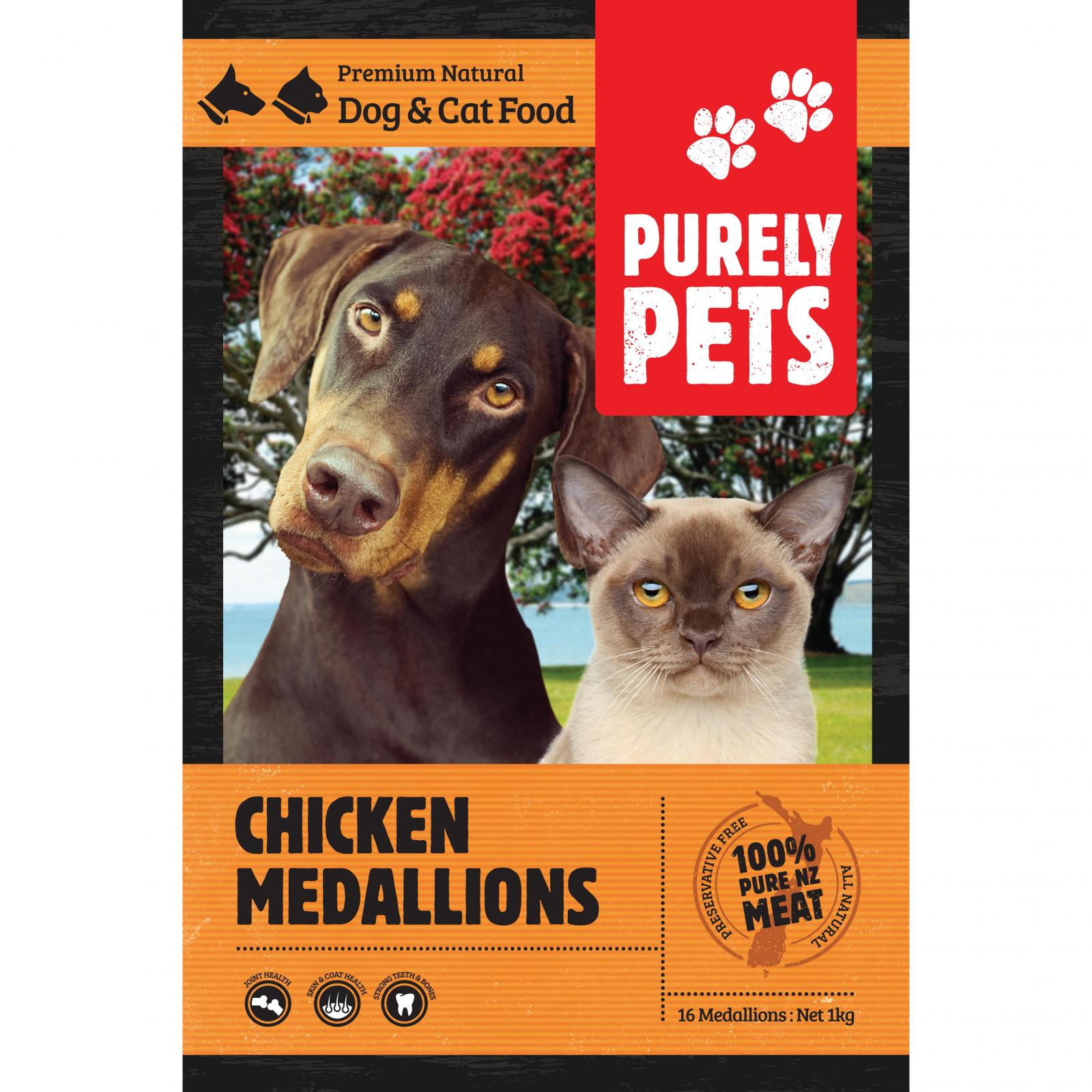 PURELY PETS Purely Pets Frozen Chicken Medallions