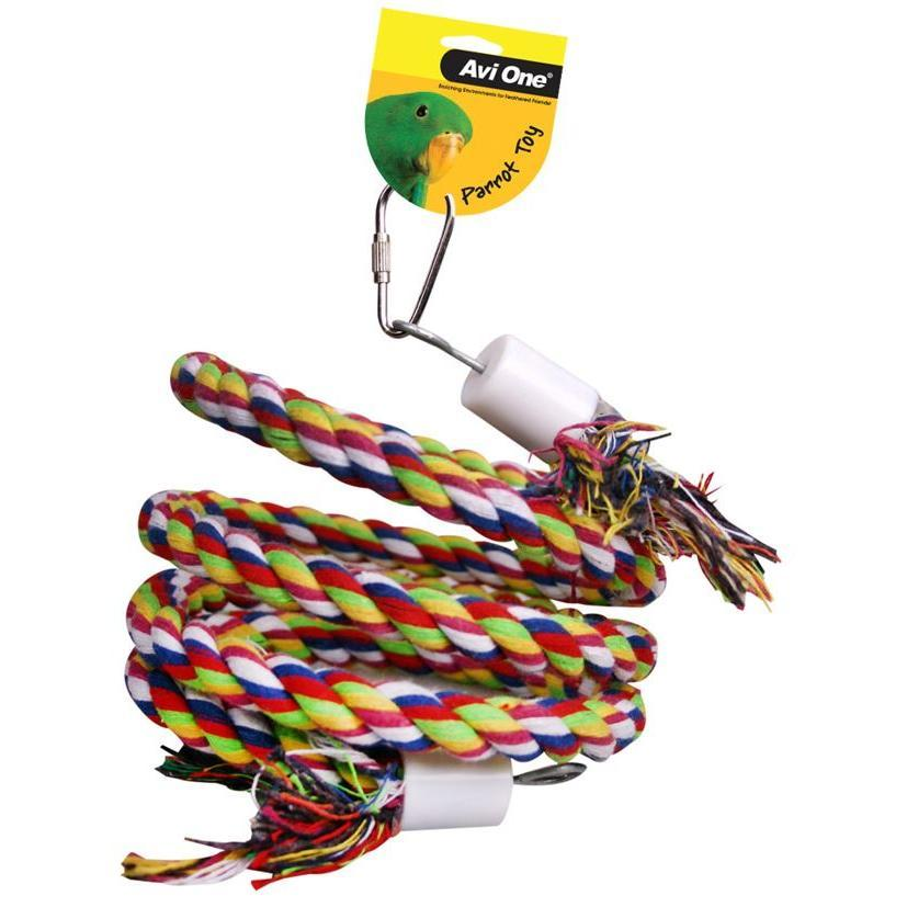 Avi One Avi One Parrot Rope Twister with Bell - Small