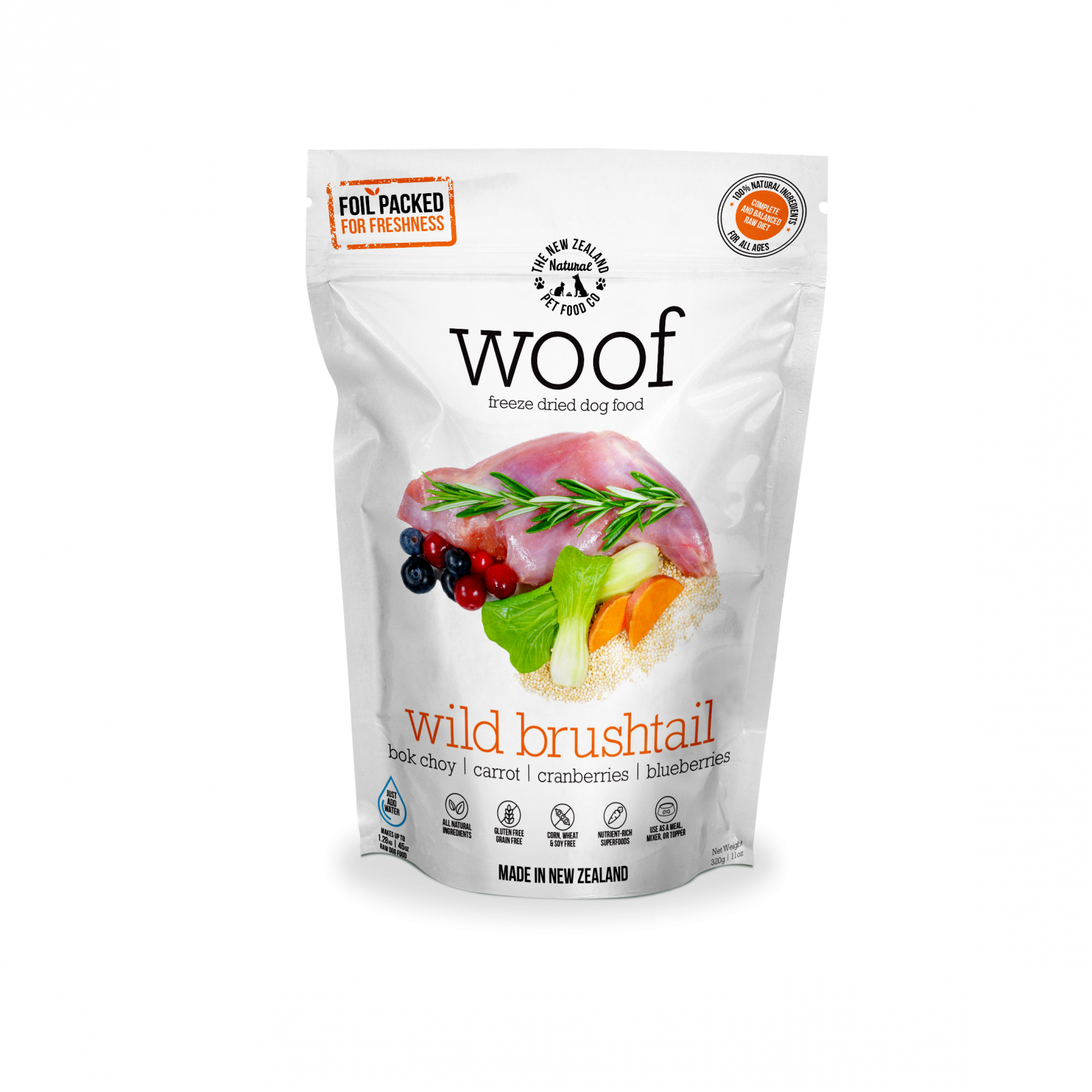 WOOF Woof Wild Brushtail Freeze Dried Dog Food